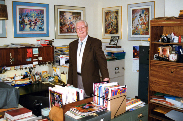 Carl Barks in his study