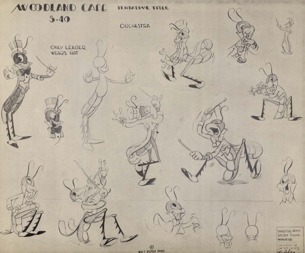 Woodland Cafe model sheet