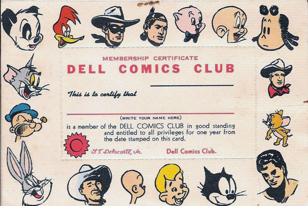 Dell Comics Club car