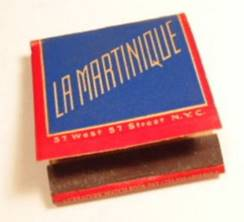 La Martinque matchbook