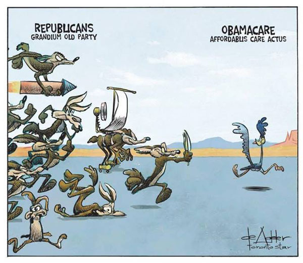RoadRunnerObamacareCartoon